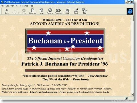Pat Buchanan 1996 Website