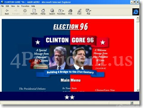 Clinton Gore 96 Website