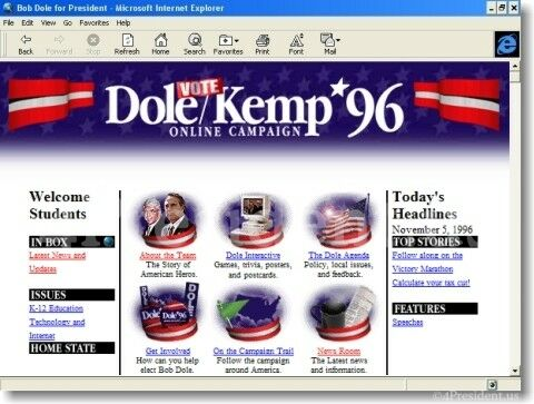 Dole Kemp '96 Website
