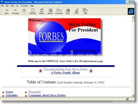 Steve Forbes 1996 Website
