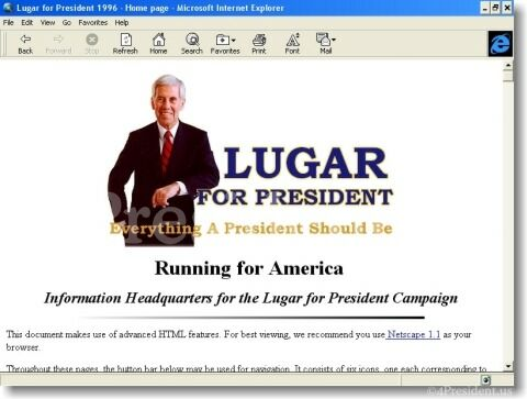 Dick Lugar 1996 Website